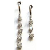 Σκουλαρίκια ασημένια με ημιπολίτιμες πέτρες