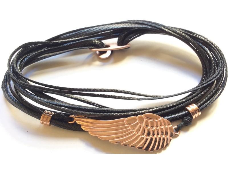 Ανδρικό Βραχιόλι Ασημένιο Φτερό