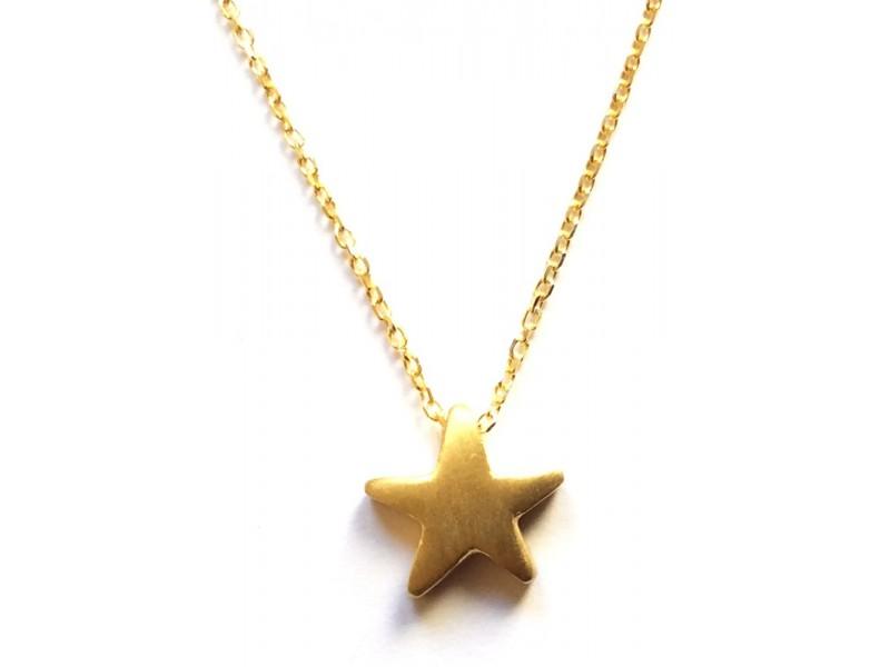 Γυναικείο Μενταγιόν  Ασημένιο Αστέρι
