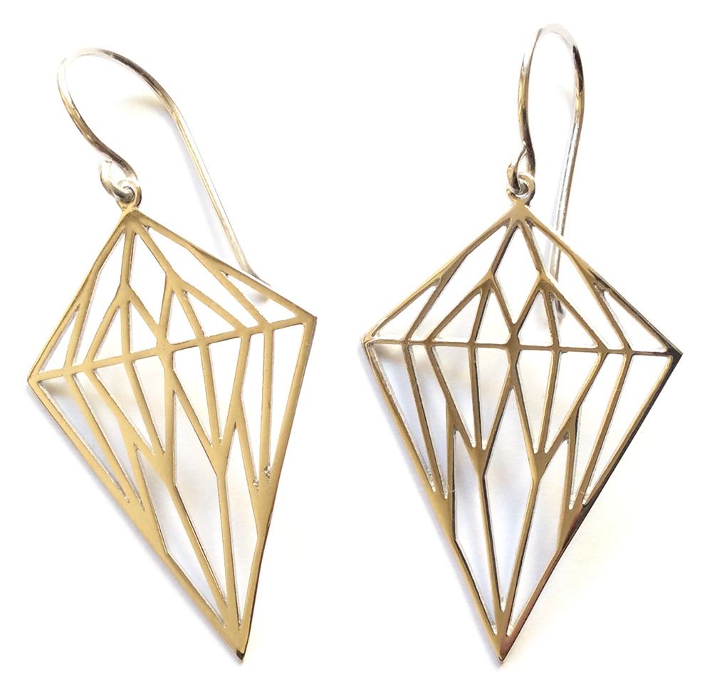 Γυναικεία Σκουλαρίκια Ασημένια Διαμάντι - e-kynthia.gr 2a53083c9e2